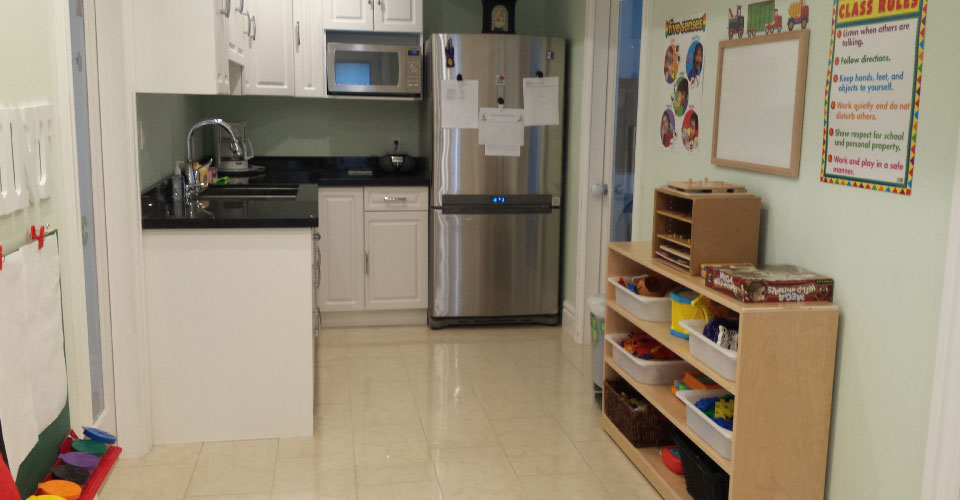Kitchen playroom